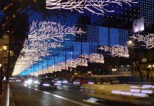 Adornos Navidad, en Madrid, España