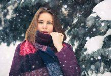chica con bufanda