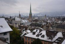 Zúrich, ciudades en invierno