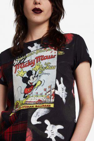 Camiseta Mickey Mouse tartán de Desigual
