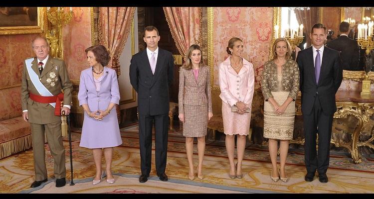 Sofía, juan Carlos, Letizia y otros miembros de la familia real