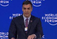 Pedro Sánchez - Davos - déficit y justicia fiscal
