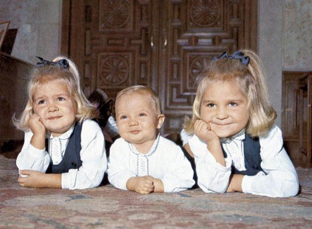 felipe VI de bebé con las infantas