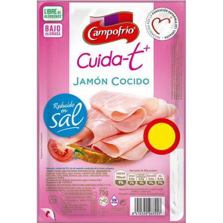 Jamón cocido bajo en grasas de Campofrío