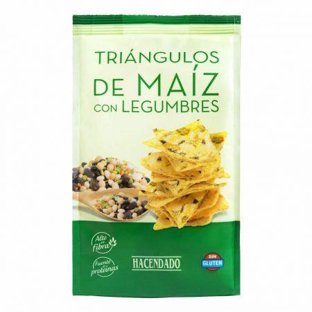 triángulos de maíz con legumbres