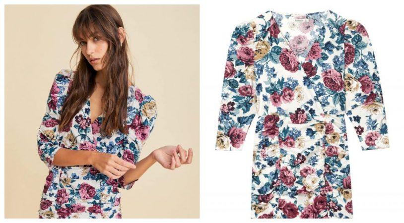 vestido flores stradivarius