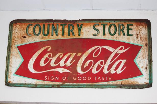 Coca Cola logo chapa antigua