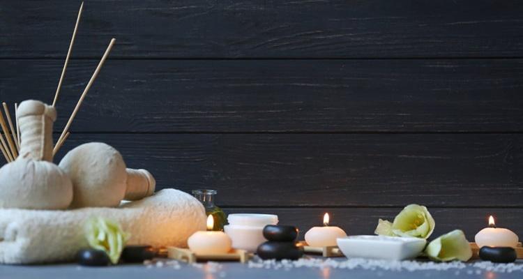 Elementos relajantes spa baño