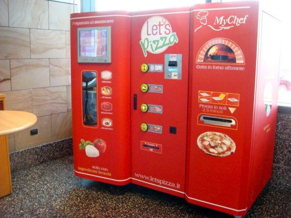 máquina expendedora de pizza