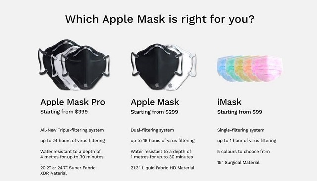 mascarilla de Apple