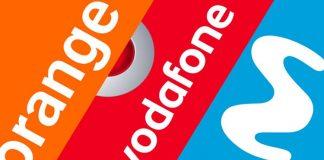 Orange, Movistar, Vodafone sin límite