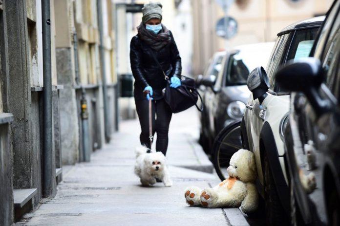 Ligar en cuarentena - pasear perro