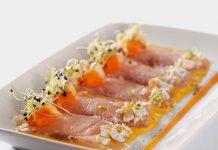 Restaurantes envío domicilio en Madrid, plato de salmón