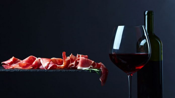dieta jamón y vino