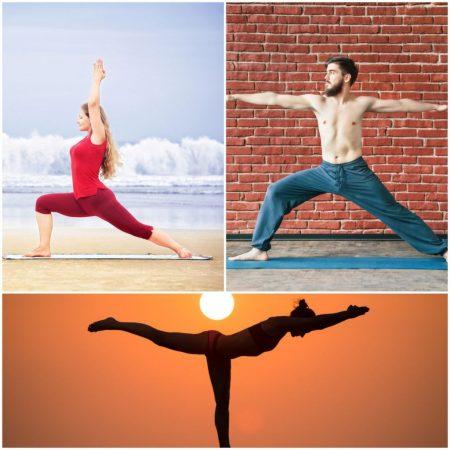 yoga posturas guerrero