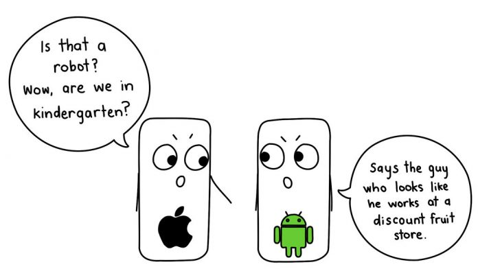 iPhone vs Android: chiste meme