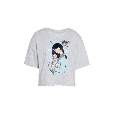 Camiseta gris de Mulán de Disney tendencia Primark, Zara, Mango y Bershka