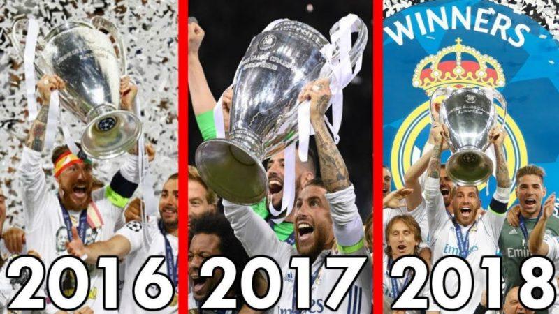 Las tres Champions seguidas