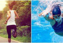 nadar y caminar para adelgazar