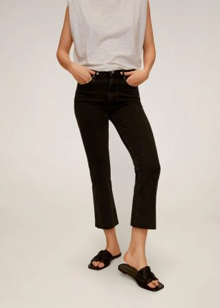 jeans acampanados mango