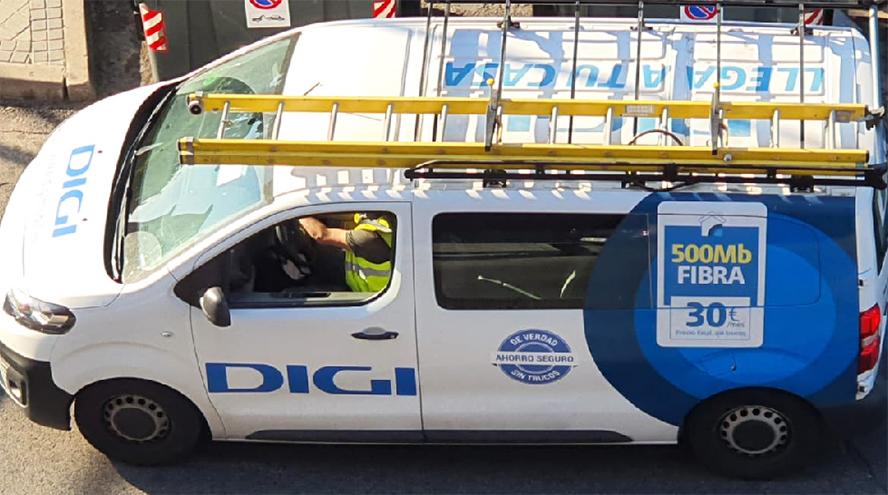 La furgoneta de Digi y el buzoneo: la guerra de tarifas empieza ahora