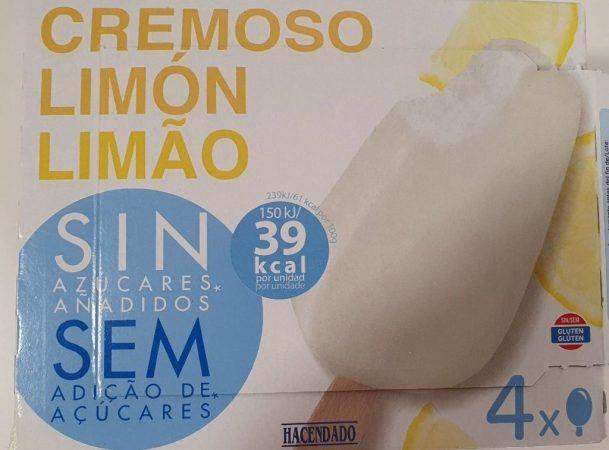 cremoso de limón de Mercadona, helados