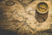 mapa antiguo, lugares del mundo