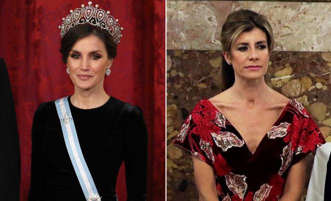 Reina Letizia y Begoña Gómez
