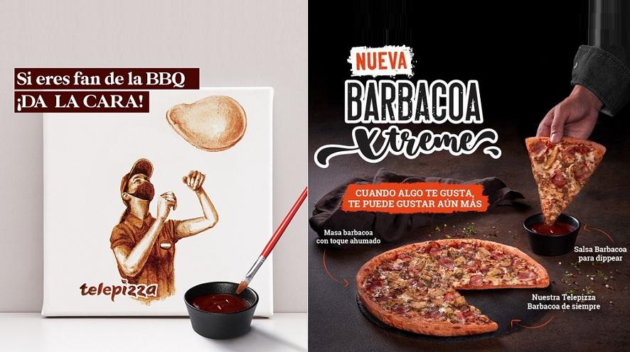 Telepizza reinventa la clásica Barbacoa en su nuevo lanzamiento con un tarro extra de salsa para dippear
