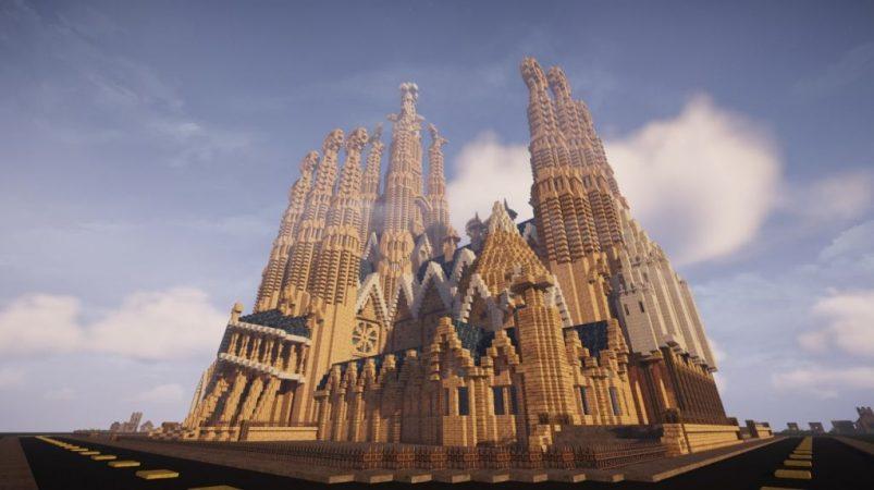 Sagrada Familia en Minecraft