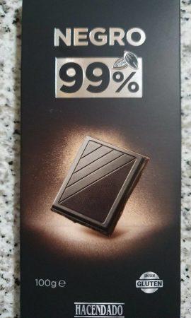 Chocolate 99% Hacendado de Mercadona