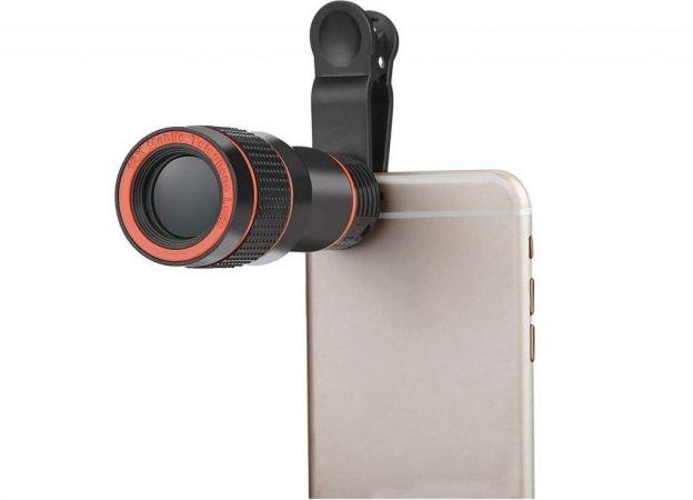 lente clip cámara Android