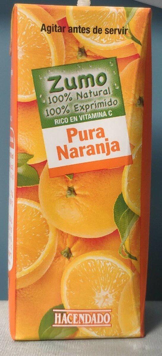 zumo de naranja Hacendado