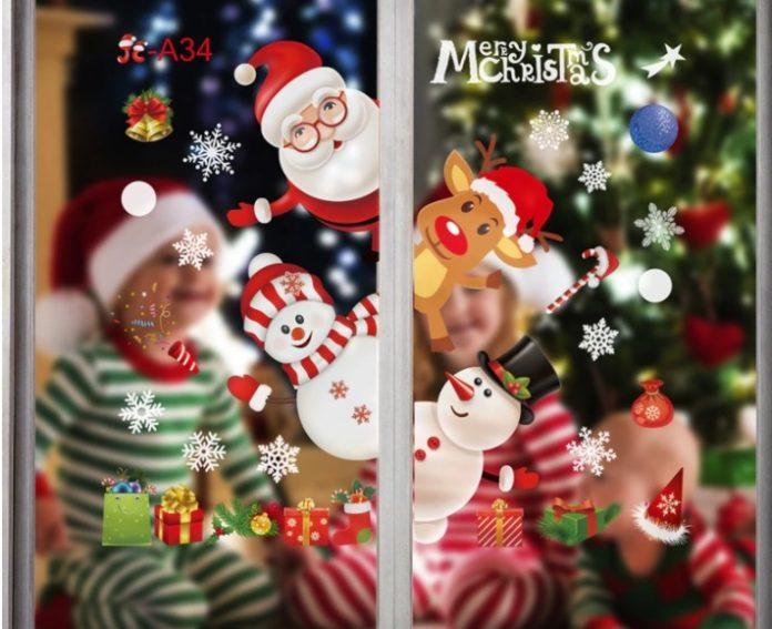 adhesivos navideños
