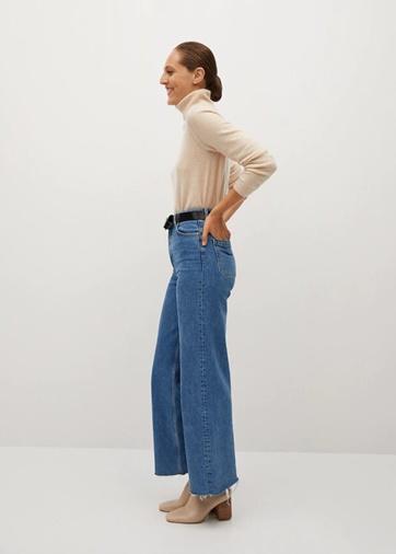 Jeans tiro alto Mango Selected