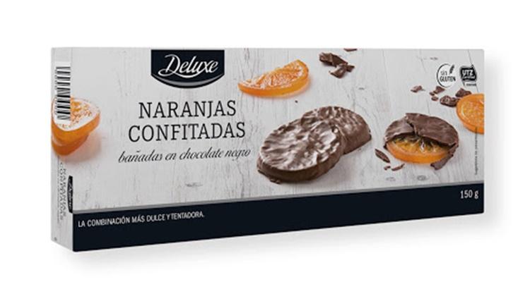 Naranjas confitadas bañadas Lidl dulces Deluxe