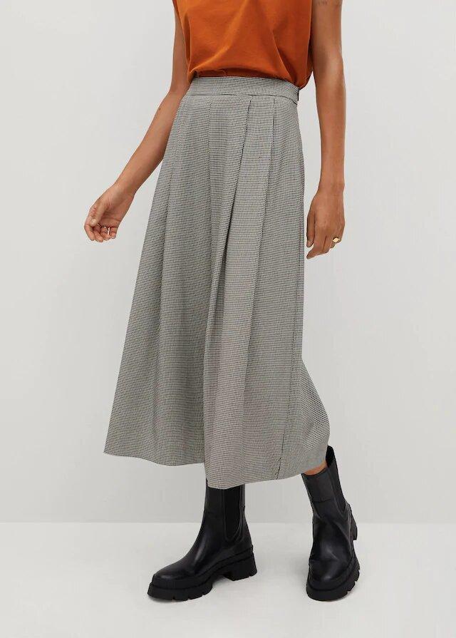 pantalon culotte pinzas