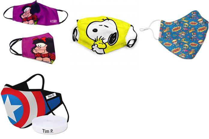 Amazon: mascarillas Snoopy, Mafalda, superhéroes para regalar