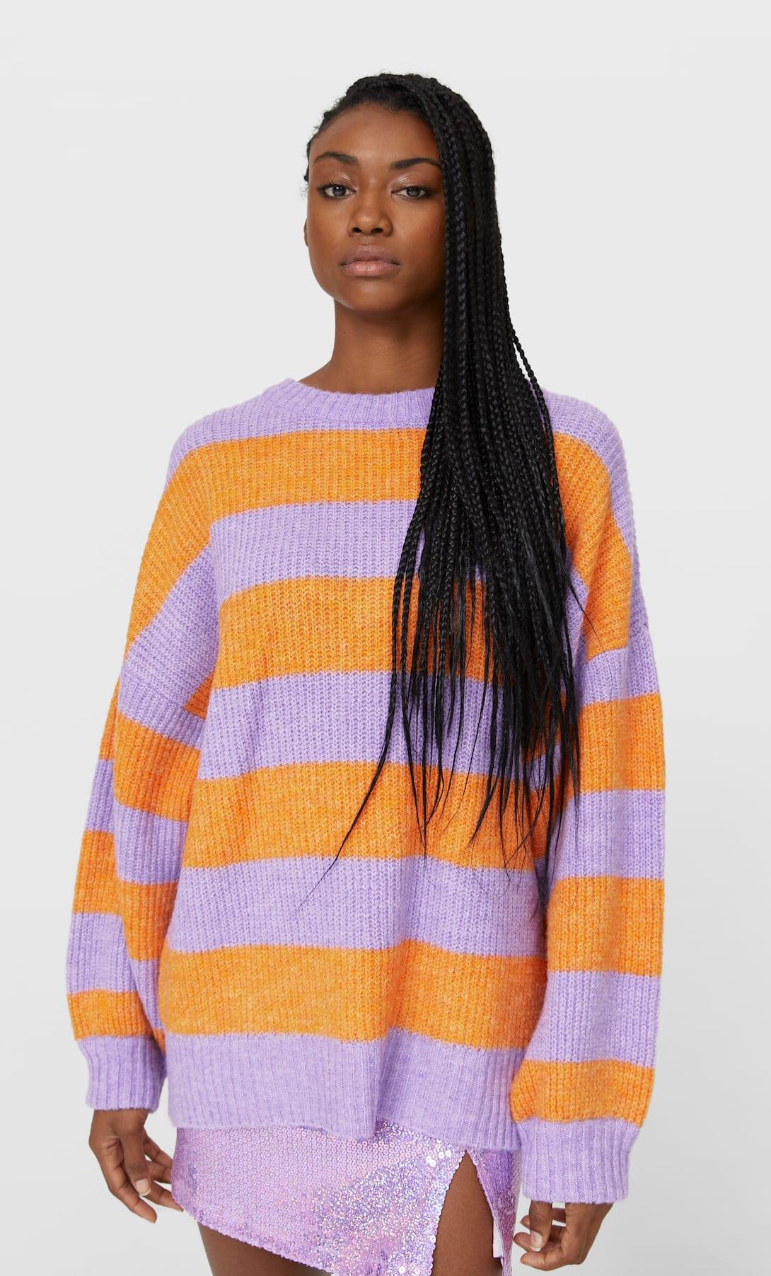 jersey rayas multicolor stradivarius