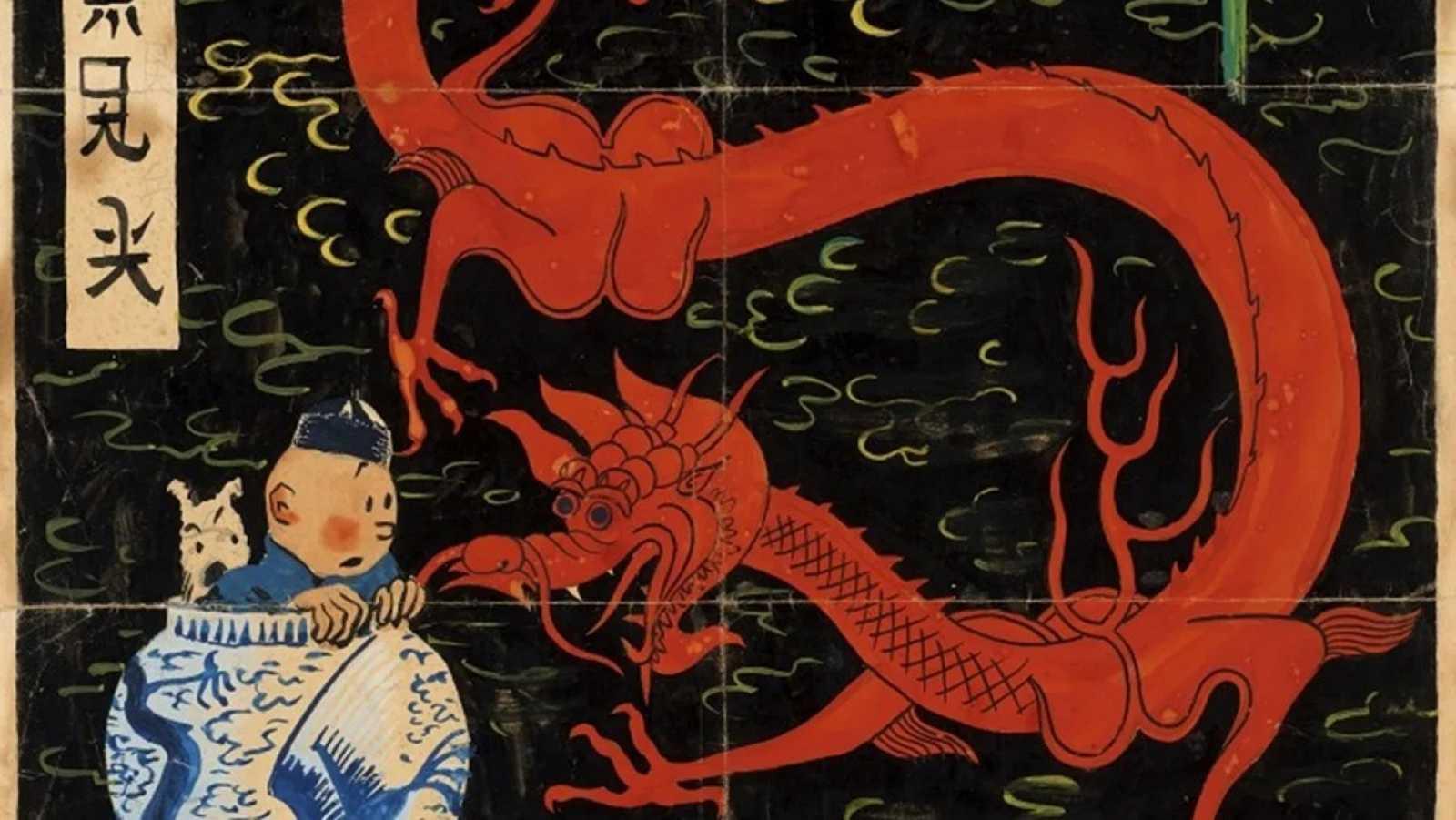 La portada de Tintín vendida por 3 millones de euros, un récord para el cómic