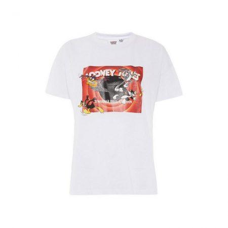 camiseta logo looney tunes