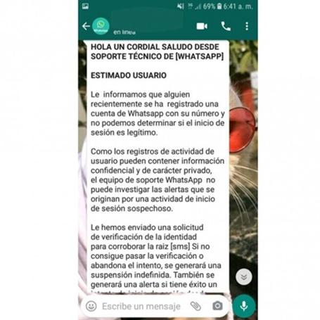 Perder control acceso Whatsapp