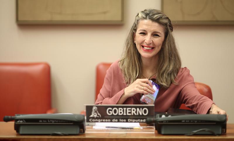 Yolanda Díaz comparece en el Congreso por vez primera tras ser llamada a liderar Unidas Podemos