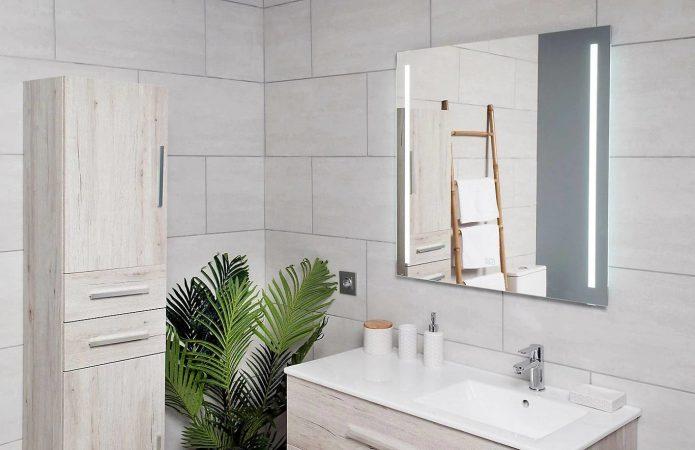 El espejo rectangular Málaga plata de Leroy Merlín