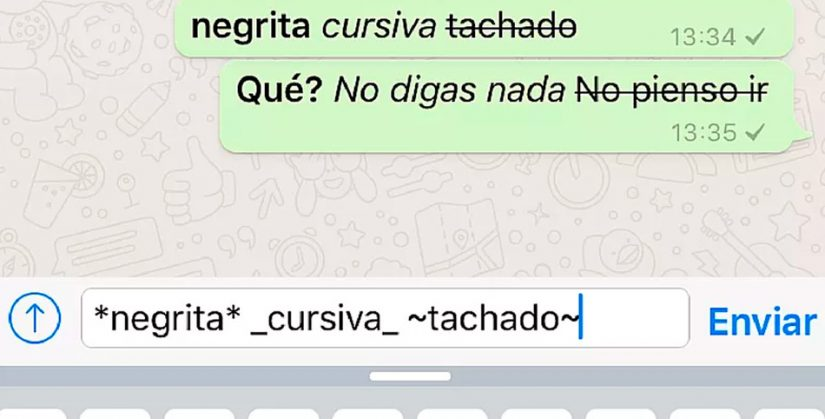 Envío de mensajes elegantes por WhatsApp