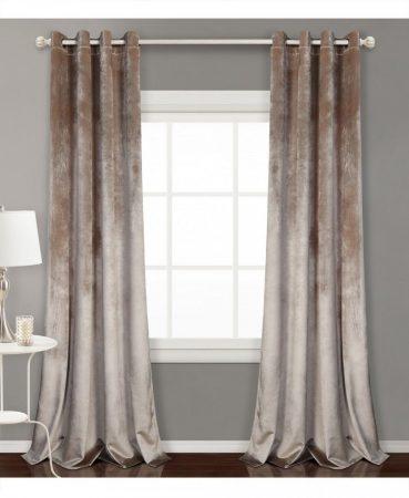 Las cortinas Blackout con motivo liso gris de Leroy Merlín
