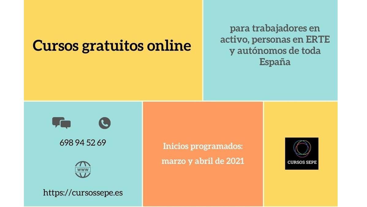Autónomos y trabajadores en ERTE, prioritarios para la formación gratuita