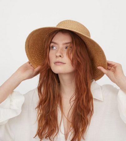 sombrero paja trenzada h&m