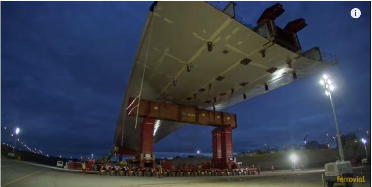 Así maniobró Ferrovial para colocar el impresionante puente de Valdebebas