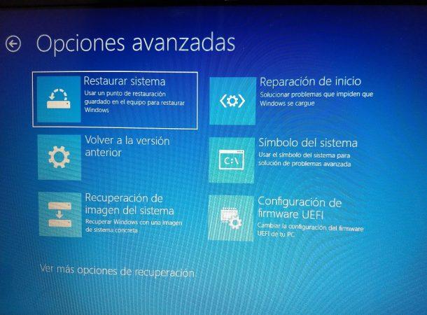 Restaurar o reinstalar Windows 10